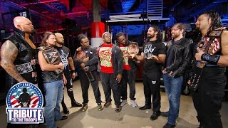 The New Day, The Club and The Shield stand face-to-to-face: Tribute to the Troops, Dec. 14, 2016