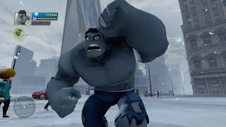 getlinkyoutube.com-Disney Infinity 2.0 - Grey Hulk Gameplay (Gamma Rays Power Disc)