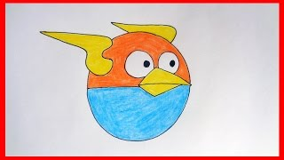 getlinkyoutube.com-How to draw Lightning Birds from Angry Birds Space