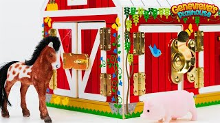getlinkyoutube.com-Farm Animal Names Teach Kids Barn Animals  Best Learning Videos Educational Toy Barn Horse Goat Pig!