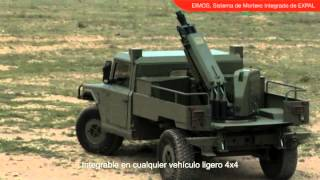 EIMOS Expal 60mm 81mm Integrated Mortar System light wheeled vehicle Spanish defence industry