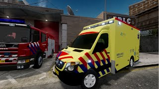 getlinkyoutube.com-GTA IV - Firefighter Mod - Dutch Ambulance Service,