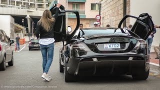 getlinkyoutube.com-Hot girl driving in a SLR Mansory Renovatio and making a powerslide | Top Marques 2015