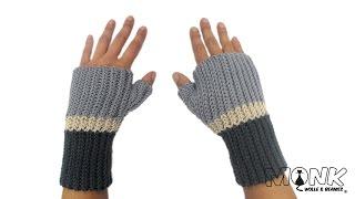 getlinkyoutube.com-Handstulpen häkeln - Farbwechsel - Bosnisch häkeln