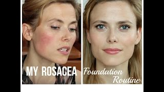 getlinkyoutube.com-My Rosacea Foundation Routine Makeup And Medicine