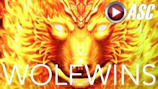 getlinkyoutube.com-*BIG WIN!* BURNING WOLF (Konami) & WOLFY BIG WINS! Slot Machine Bonus *NO ANIMALS HARMED*