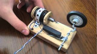 getlinkyoutube.com-Homemade Solenoid engine + Magnets