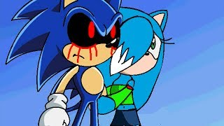 getlinkyoutube.com-::Recoloring【Sonic X】To Sonic.exe And Ice The Cat:: ~Request- PrincessIce TheCat~