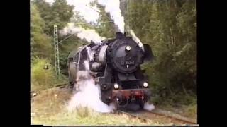 getlinkyoutube.com-Wheelslip after emergency stop - steam locomotive September 1997