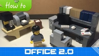 getlinkyoutube.com-How to make LEGO Office Furniture (MOC 2.1 extended collection)