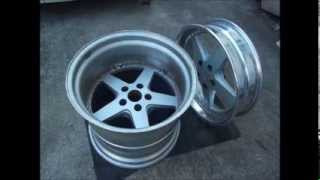 深リムホイール 裏組 wheels rim hellaflush 3piece