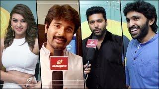 Jayam Ravi, Hansika,DSP, Vikram Prabhu, Siddharth at Romeo Juliet Premiere Show width=