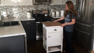How to Build a Kitchen Island Prep Cart with Ana White