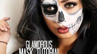 getlinkyoutube.com-Glamorous Half Skull Mask Tutorial