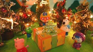 getlinkyoutube.com-크리스마스 선물을 받고싶다구! ★뽀로로 장난감 애니 캐릭온 TV