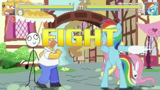 getlinkyoutube.com-AN Mugen Request #166: Homer Simpson & Derp VS Rainbow Dash & Fluttershy