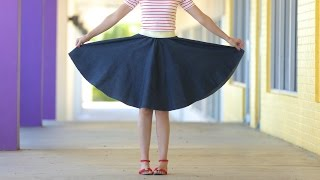 getlinkyoutube.com-How to make a Circle Skirt - for any age + any size