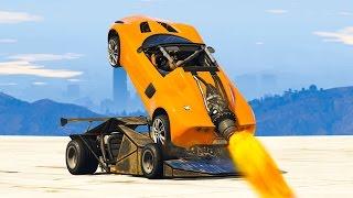 getlinkyoutube.com-RAMP CAR vs. ROCKET CAR! (GTA 5 Mods)