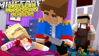 Minecraft Adventures - WHO MURDERED BABY LEAH IN HER BED?? Murder Mystery Bed Wars Special!!