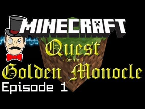 Minecraft Adventure: Quest for the Golden Monocle PART 1! (Spitfire Roof Runway, Armory &amp; Treasure)
