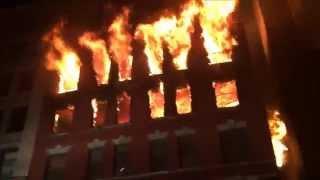 getlinkyoutube.com-FDNY RESPONDING TO & BATTLING MASSIVE 6 ALARM FIRE ON W. 17TH ST. IN CHELSEA AREA OF MANHATTAN, NYC.