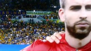 getlinkyoutube.com-Spain vs Brazil ~6-30-2013 Confederation Cup. Spain National Anthem