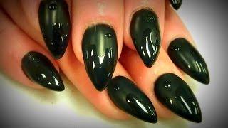 getlinkyoutube.com-BLACK MATTE GEL NAILS