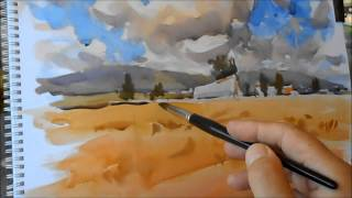 getlinkyoutube.com-Summer Sketches Watercolor-2ªparte-Bocetos de verano