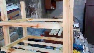 Sapateira feita de madeira pinus reciclada de pallets