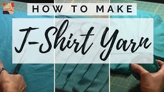 getlinkyoutube.com-T-Shirt Yarn - How to make T-shirt yarn