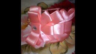 getlinkyoutube.com-tiara com laço de fita de cetim fácil de fazer/ Headband with ribbon