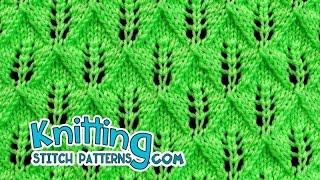 getlinkyoutube.com-Fern or Leaf-Patterned Lace | Lace Knitting #24