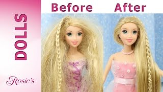 getlinkyoutube.com-Rapunzel Grow and Style Makeover -  Hair Repair and New Dress