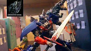getlinkyoutube.com-Transformers Age of Extinction Stop Motion-The Final Battle [Bumblebee vs Stinger]