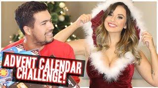 getlinkyoutube.com-BIGGEST ADVENT CALENDAR EATING CHALLENGE...!!! | 25 Days Ov Christmas #2 (BF VS GF)