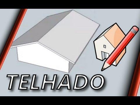 Como fazer um telhado simples - Sketchup 8 (Roof)