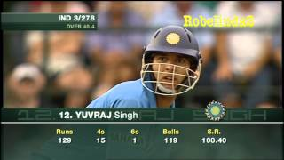Yuvraj Singh most sensational batting reply vs Australia 139 glorious runs