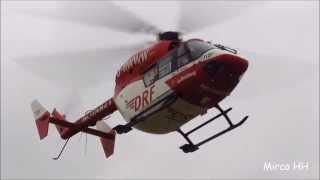 RTH Christoph 47 (D-HWWW). Take-off der BK117 am LRZ Greifswald am 11.07.2014 gegen 08.50 Uhr.(HD)