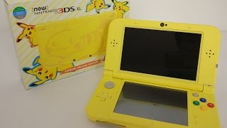 getlinkyoutube.com-Pikachu Yellow Edition New 3DS XL Unboxing + Volcanion Giveaway