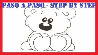 getlinkyoutube.com-Como dibujar un Oso de Peluche l How to draw a Teddy Bear l Dibujos l Drawings
