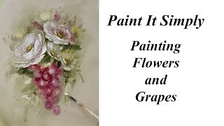 getlinkyoutube.com-Paint Roses, Flowers and Grapes- Advancing Decorative Painting