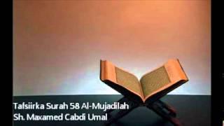 getlinkyoutube.com-Tafsiir Surah 58 Al-Mujadalah - Sh. Maxamed Cabdi Umal