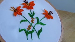 getlinkyoutube.com-Hand Embroidery: Picot stitch