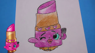 "getlinkyoutube.com-How to Draw Shopkins Season 1 ""Lippy Lips"" With Sugar Sprinkles | Toy Caboodle"