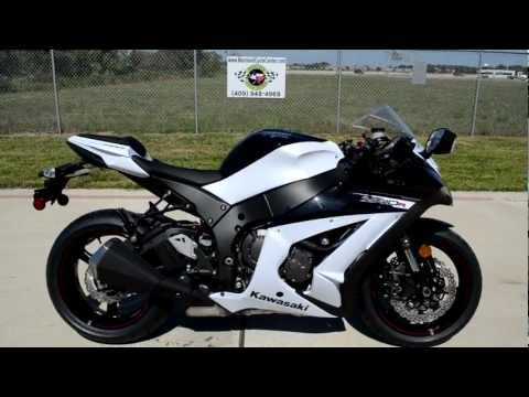 On Sale $12,499: 2013 Kawasaki ZX10R ABS in Pearl Stardust White