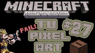 MineCraft Xbox360 - Tu Pixel Art #27 Goku, Creeper, Villager y Mas!