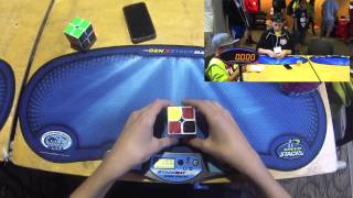 getlinkyoutube.com-2x2 Cube Former WORLD RECORDS - 0.58 Single & 1.55 Average! - Rami Sbahi
