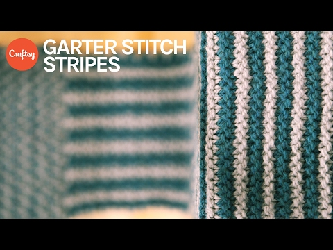 Garter Stitch Stripes | Simple Colorwork Knitting Tutorial with Anne Berk