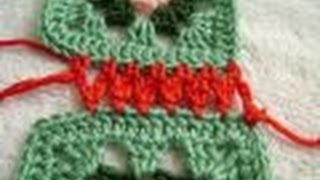 getlinkyoutube.com-Crochet Granny Squares - #4 Join with Chain Stitch & Dc2tog