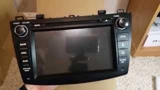 getlinkyoutube.com-Eonon GA5163 Unboxing and Hardware Overview for Mazda3 2nd Gen